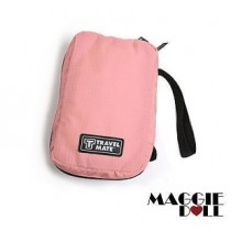 Travel Cosmetic Makeup Toiletry Purse Pouch Organizer Hanging Wash Bag - Light Pink